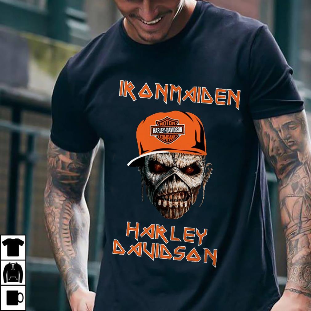 - Iron maiden Harley Davidson skull shirt