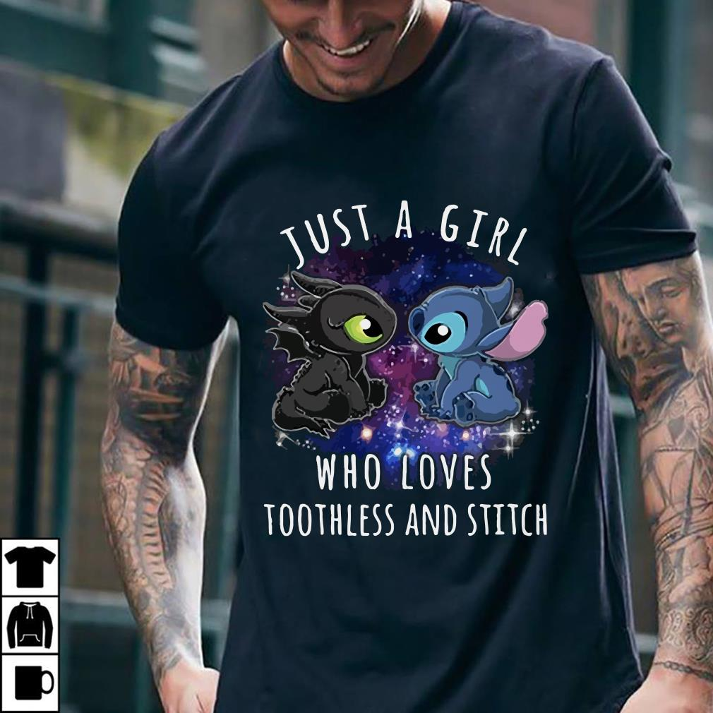 - Just a girl who loves toothless and stitch shirt