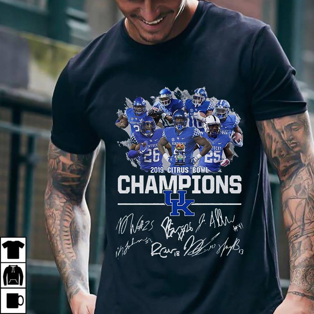 Kentucky Wildcats 2019 citrus bowl champions signature shirt 2