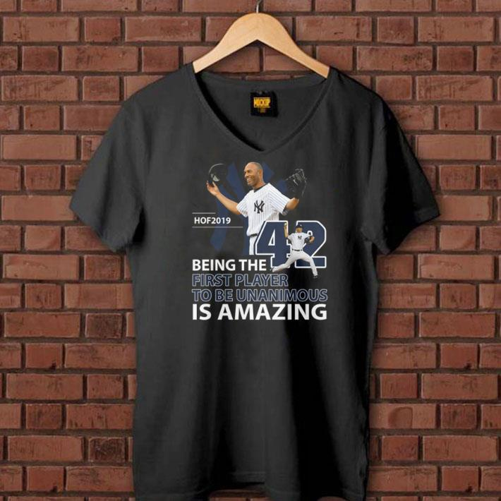 Mariano Rivera Hof 2019 Being the first player to be unanimous shirt 1