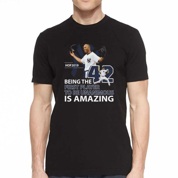 Mariano Rivera Hof 2019 Being the first player to be unanimous shirt 2
