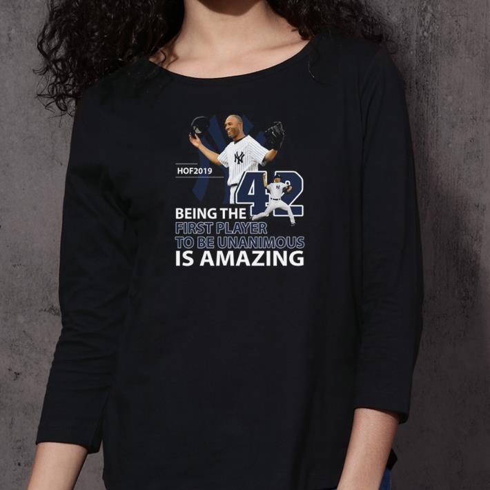 Mariano Rivera Hof 2019 Being the first player to be unanimous shirt 3