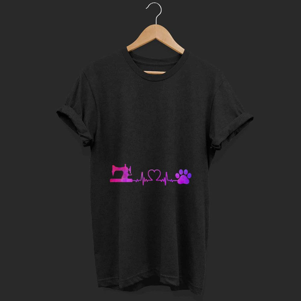 Sewing machine and dog heartbeat shirt 1