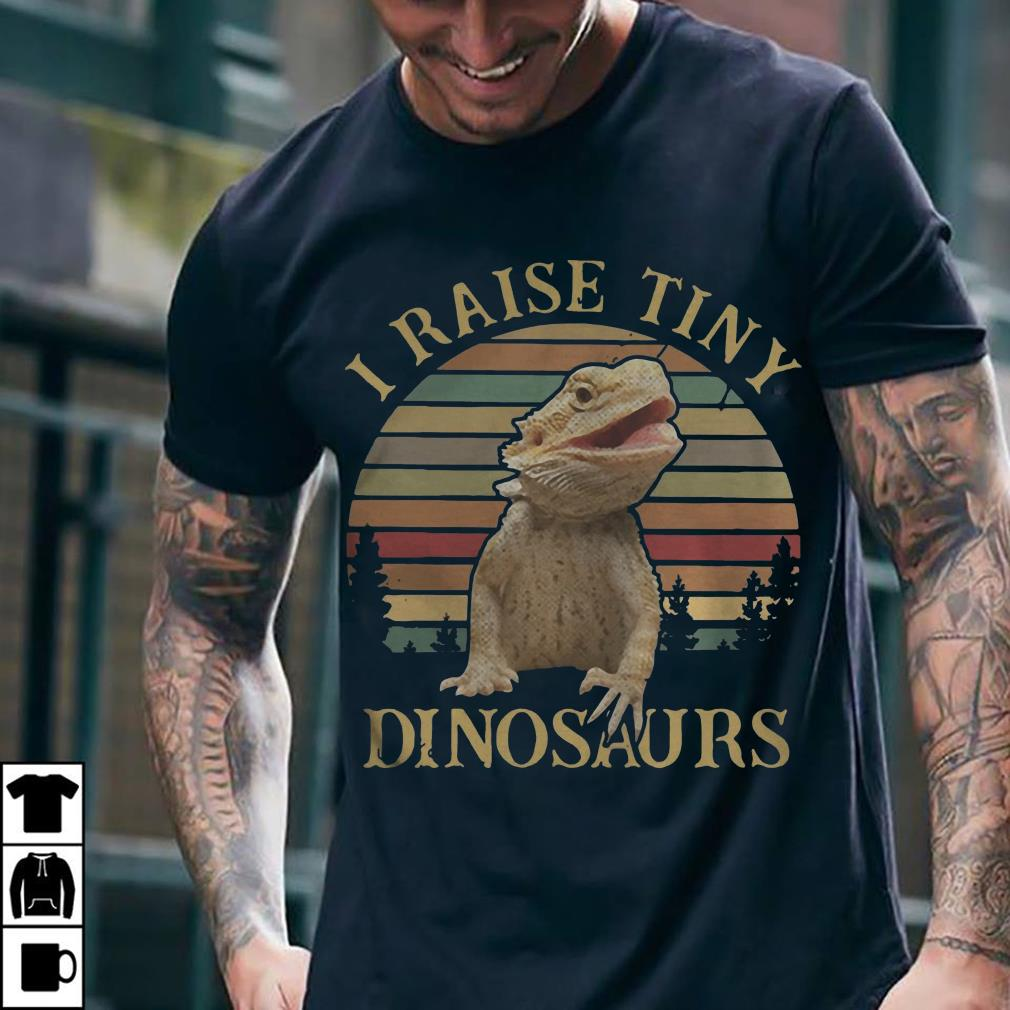 Sunset I raise tiny dinosaurs shirt 2