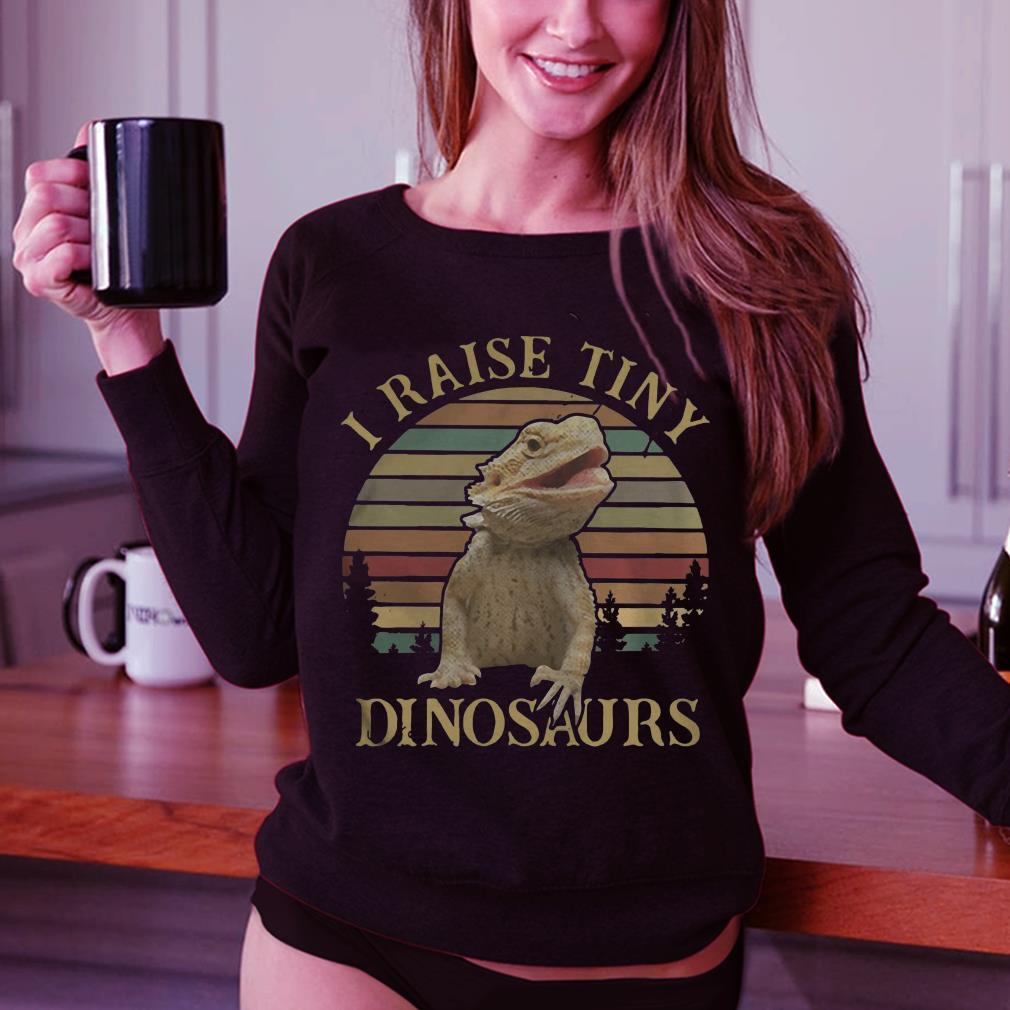 Sunset I raise tiny dinosaurs shirt 3