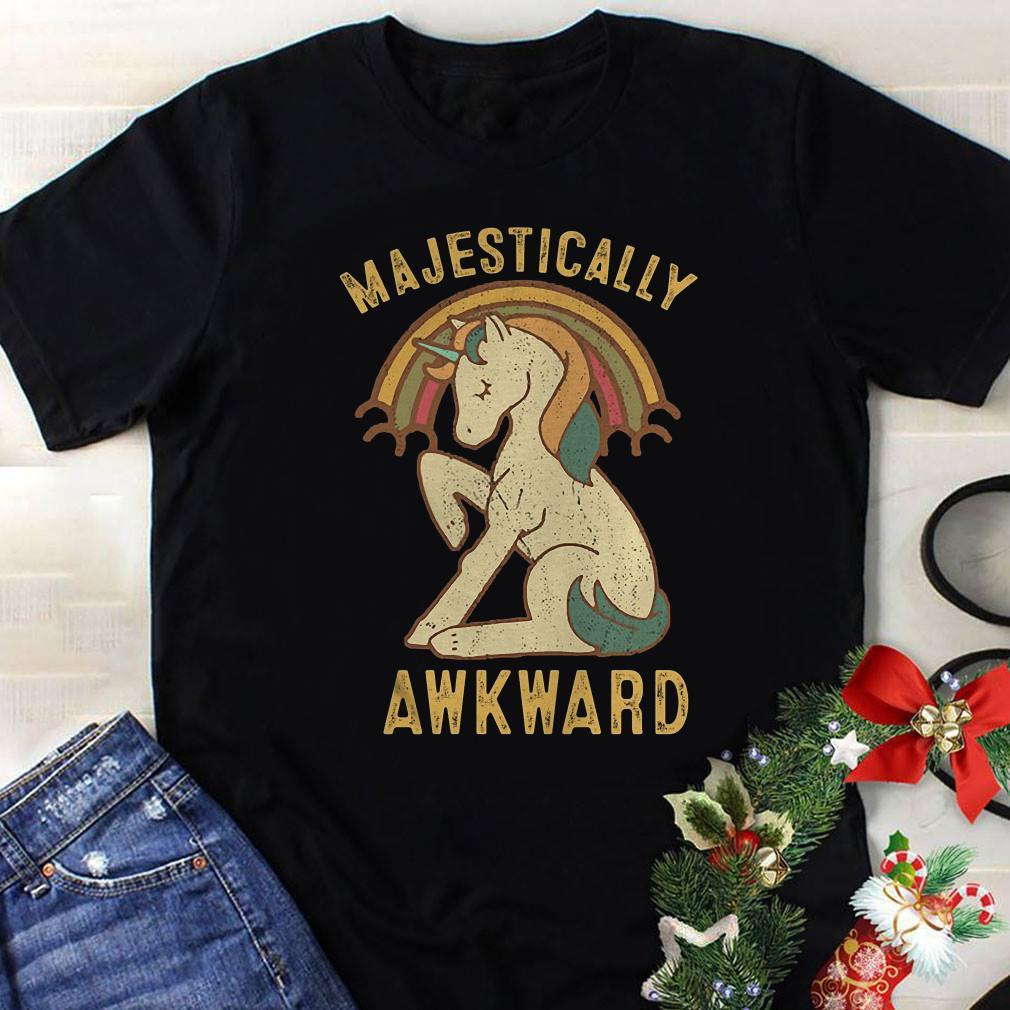 Unicorn Majestically Awkward shirt 1