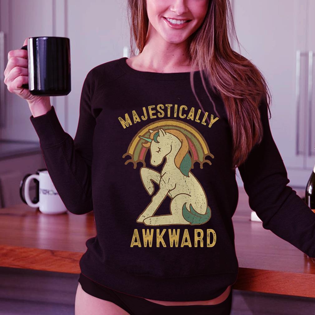 Unicorn Majestically Awkward shirt 3