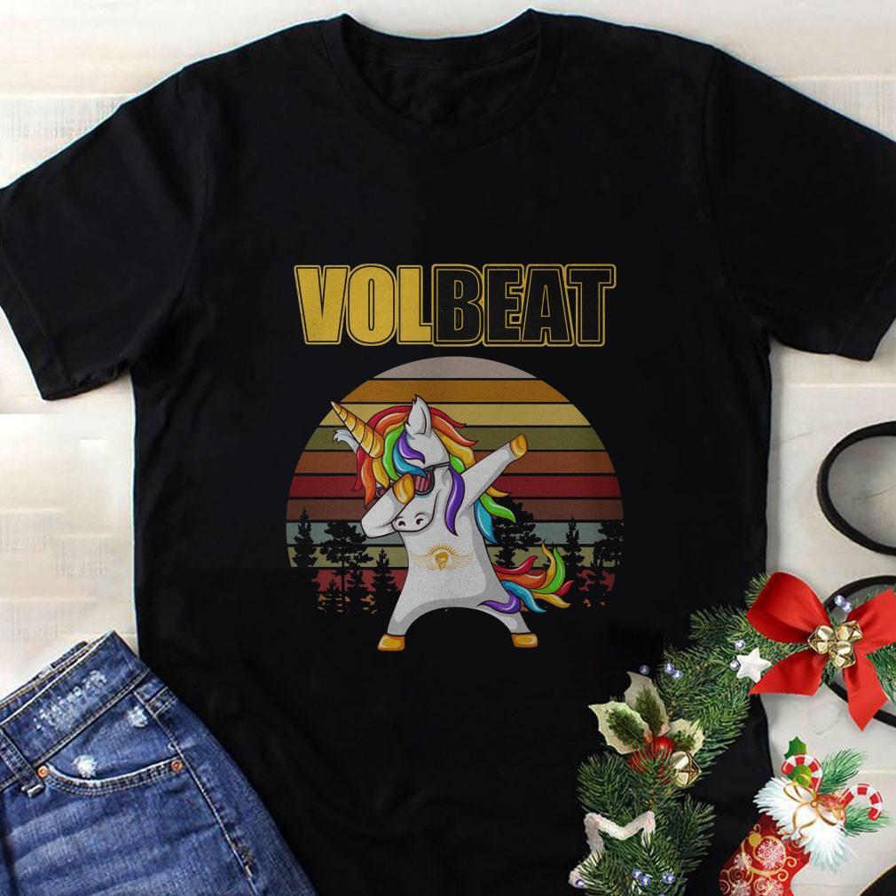 Unicorn dabbing Volbeat vintage shirt 1