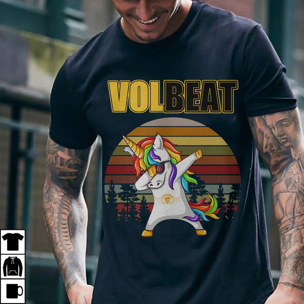 Unicorn dabbing Volbeat vintage shirt 2