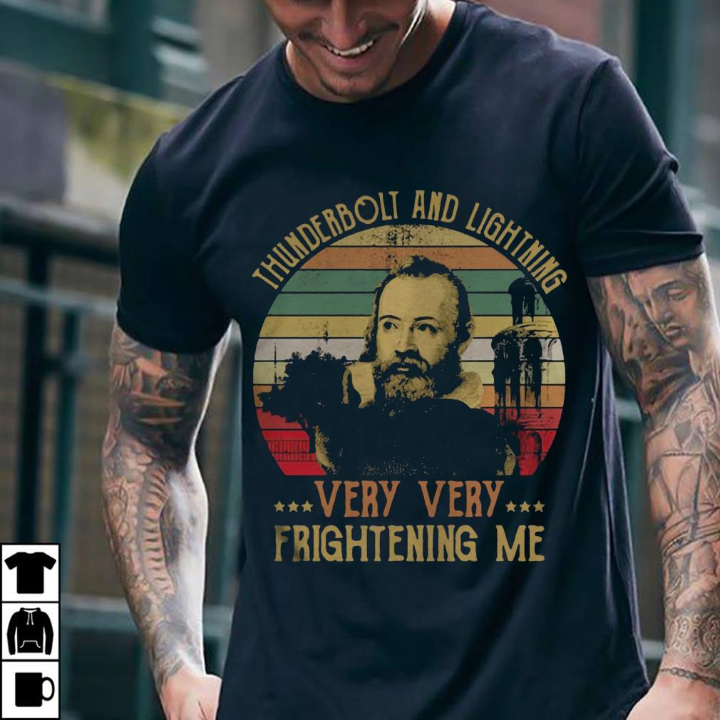 Vintage Galileo thunderbolt and lightfoot very very frightening me sunset shirt 2