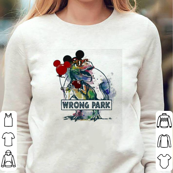 caf9b08e5 Dinosaur T-rex mashup Mickey mouse wrong park shirt, hoodie, sweater