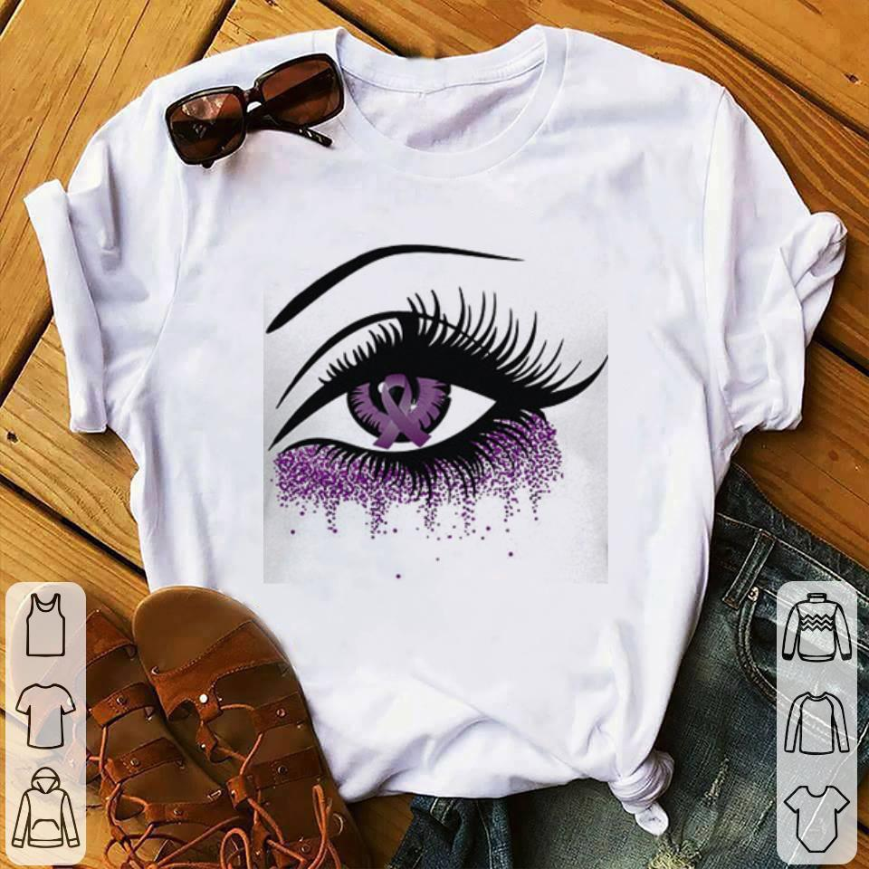 Eyes Domestic violence awareness Ribbon shirt 1