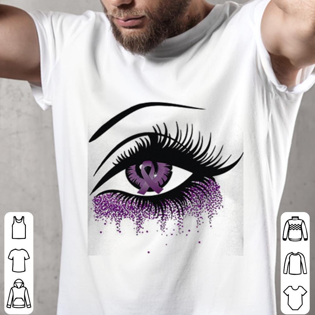 Eyes Domestic violence awareness Ribbon shirt 2