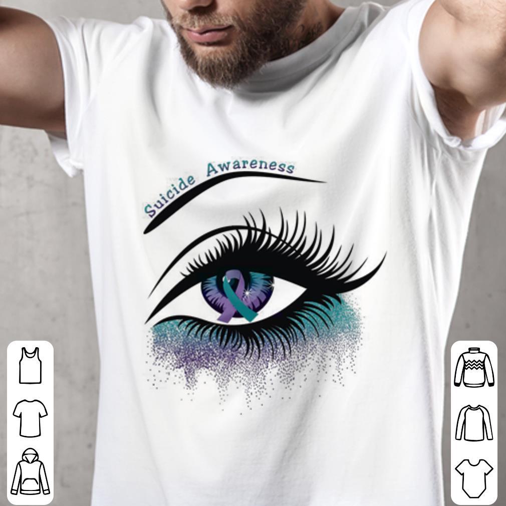 - Eyes Suicide awareness ribbon shirt