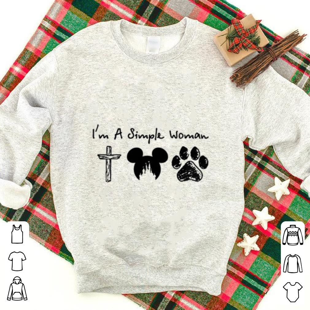 I'm a simple woman cross Mickey paw dog shirt 1