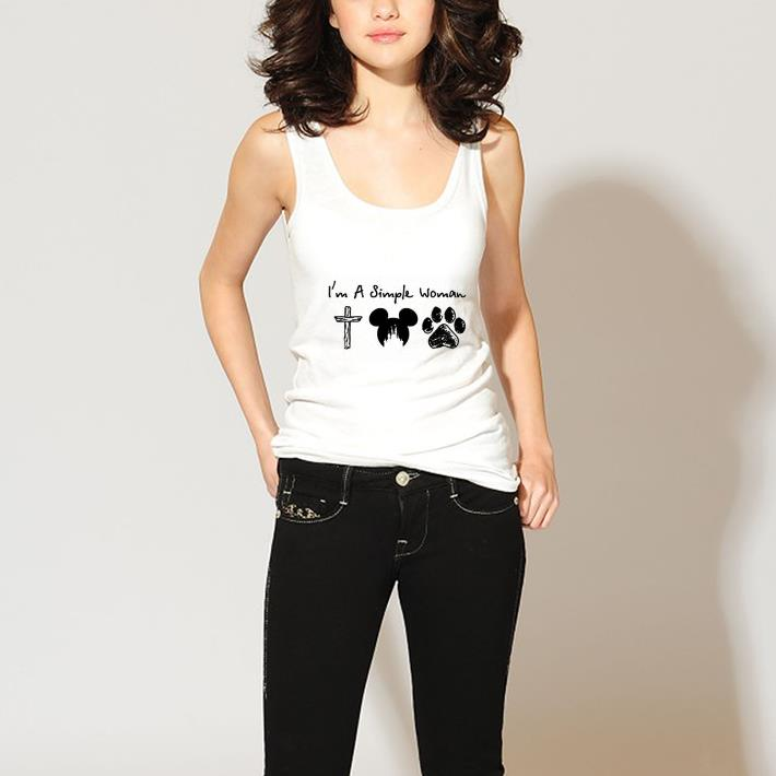 I'm a simple woman cross Mickey paw dog shirt 3