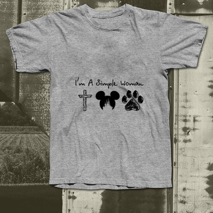- I'm a simple woman cross Mickey paw dog shirt