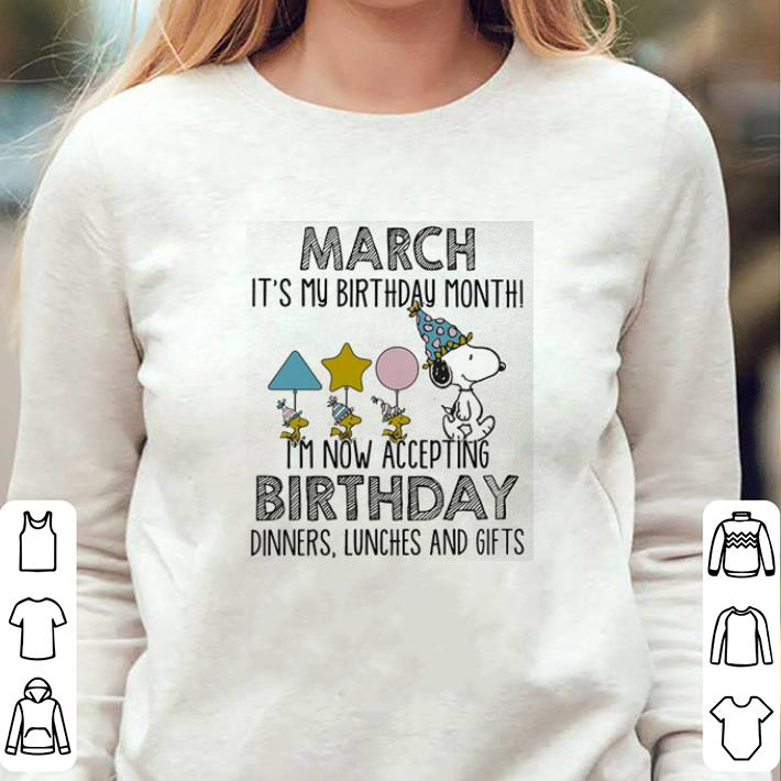 Snoopy March Its My Birthday Month Im Not Accepting Shirt