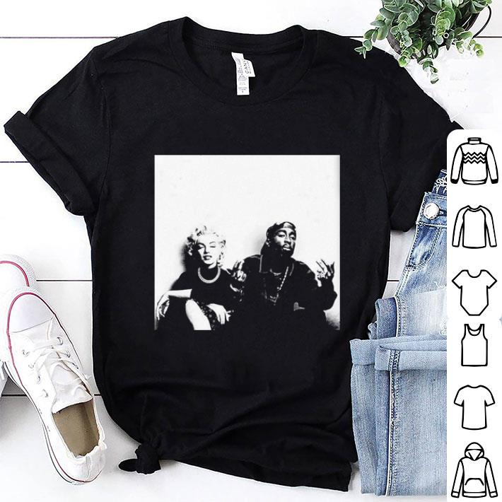 - 2Pac Tupac Shakur and Marilyn Monroe shirt
