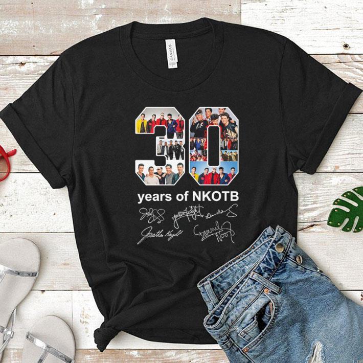 - 30 years of NKOTB signatures shirt
