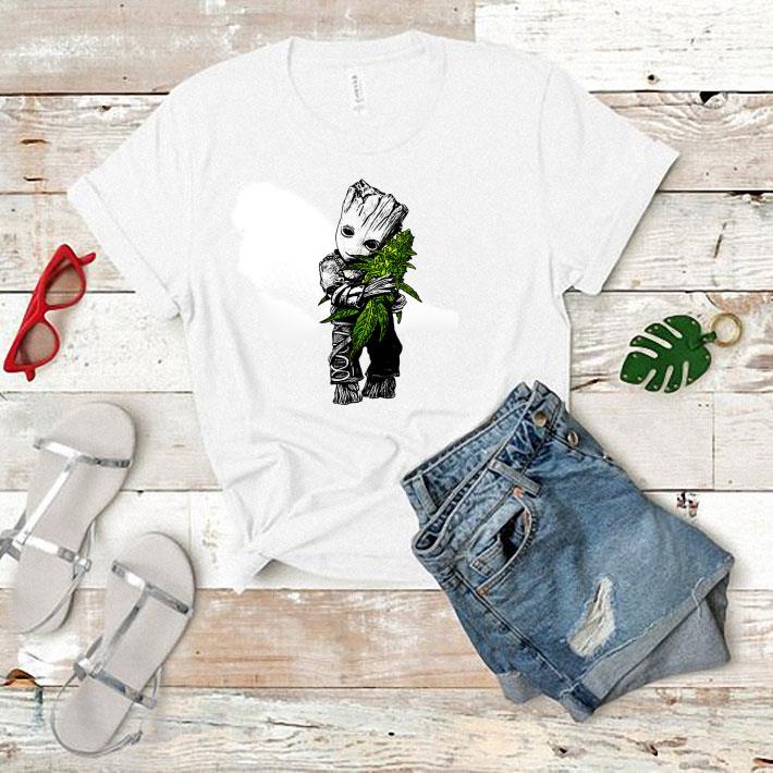 - Baby Groot hug weed shirt