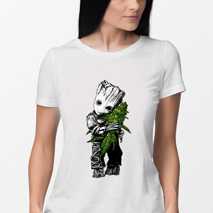 Baby Groot hug weed shirt 3