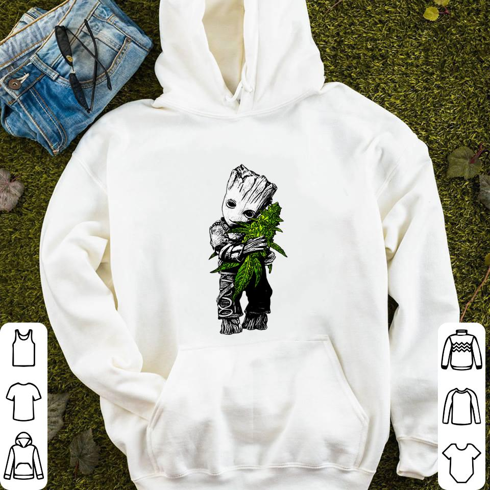 Baby Groot hug weed shirt