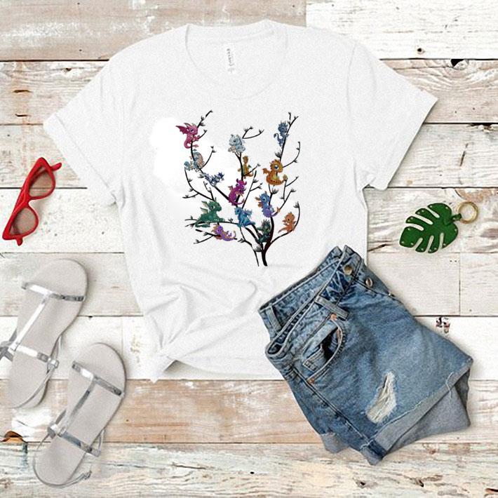 Baby dragon's on tree shirt 1