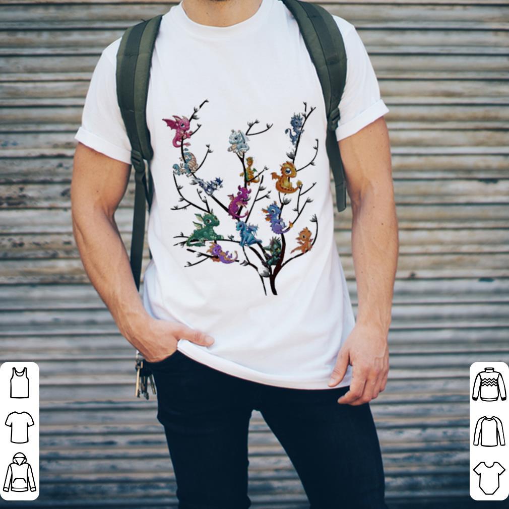 Baby dragon's on tree shirt 2