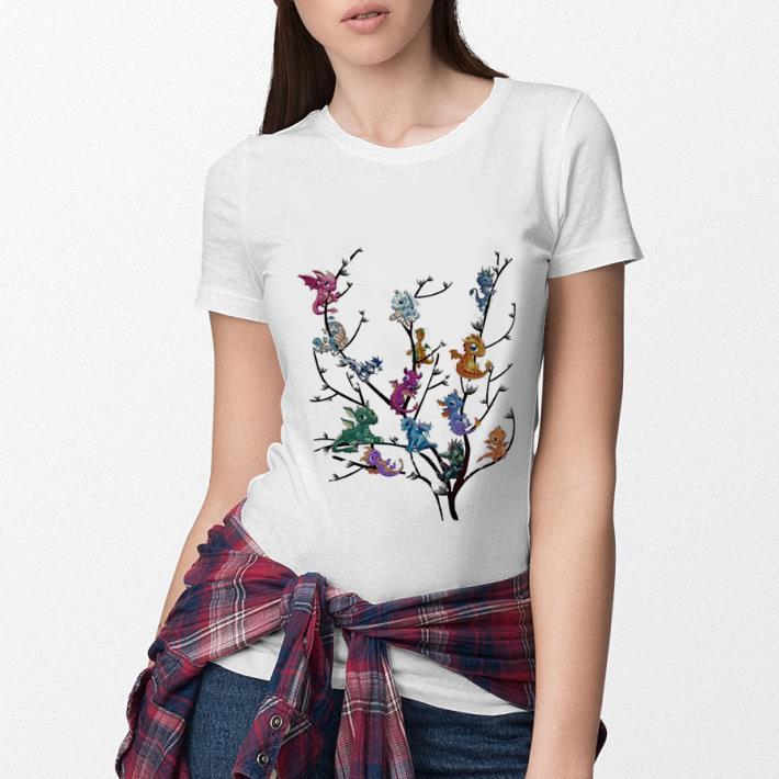 Baby dragon's on tree shirt 3