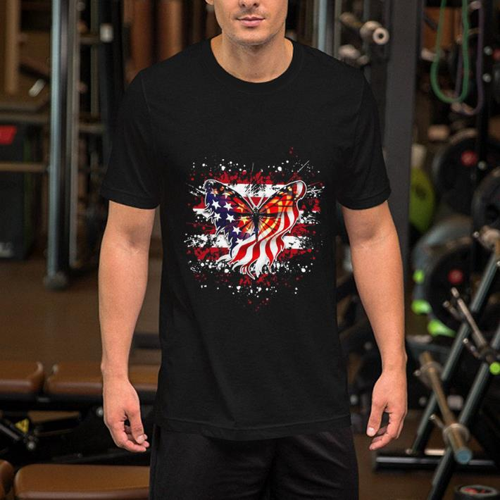 Butterfly Flag America July 4th shirt 2