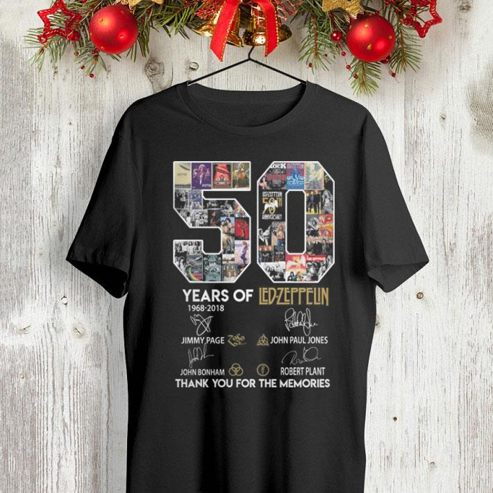 50 years of Ledzeppelin signatures thank you for the memories shirt