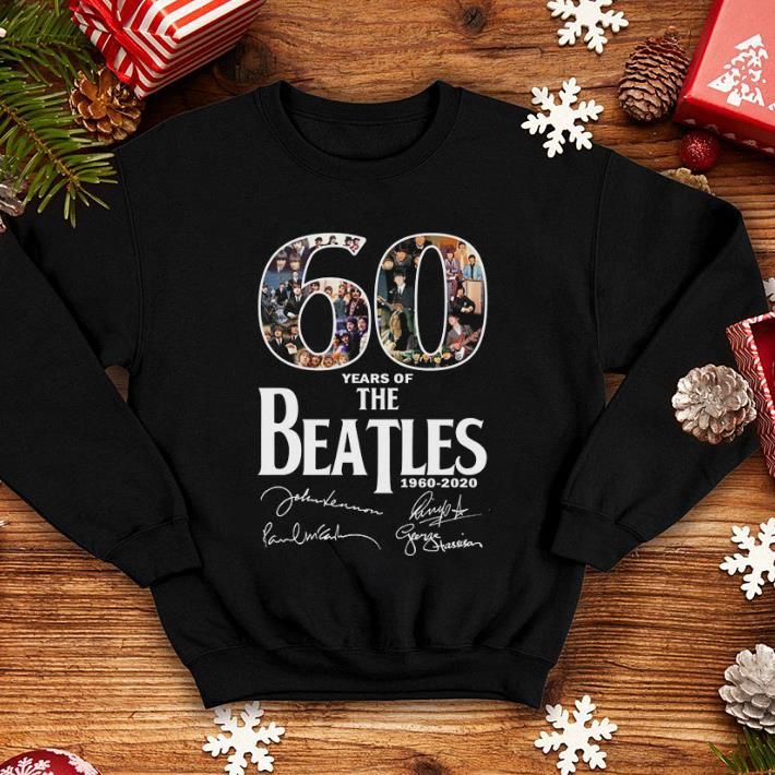 60 years of The Beatles 1960-2020 all signature shirt