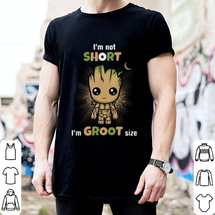 - Baby Groot I'm not short I'm Groot size Marvel Avengers shirt
