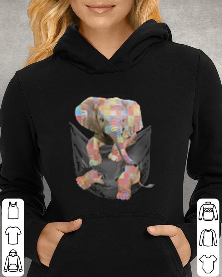 - Elephant Autism Awareness in tiny pocket shirt