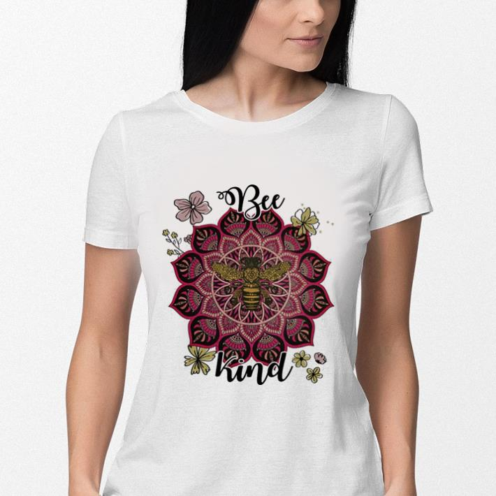 Flowers Bee kind shirt 3