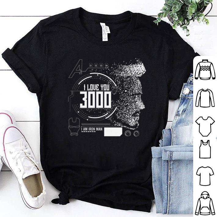 - I love you 3000 I am Iron man Marvel shirt