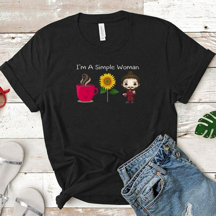 I'm a simple woman I love coffee sunflower and post malone shirt 1