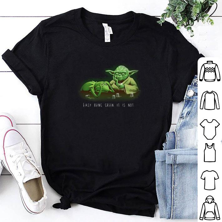 Kermit the frog yoda Easy being green it is not shirt 1