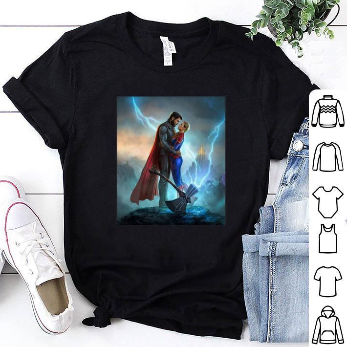 - Marvel Avengers Endgame Thor love Captain Marvel shirt