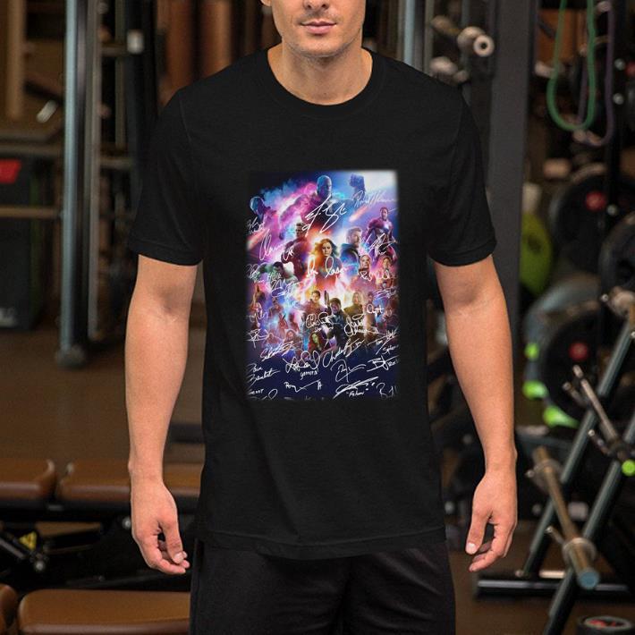- Marvel Avengers Infinity War Avengers Endgame all signature shirt