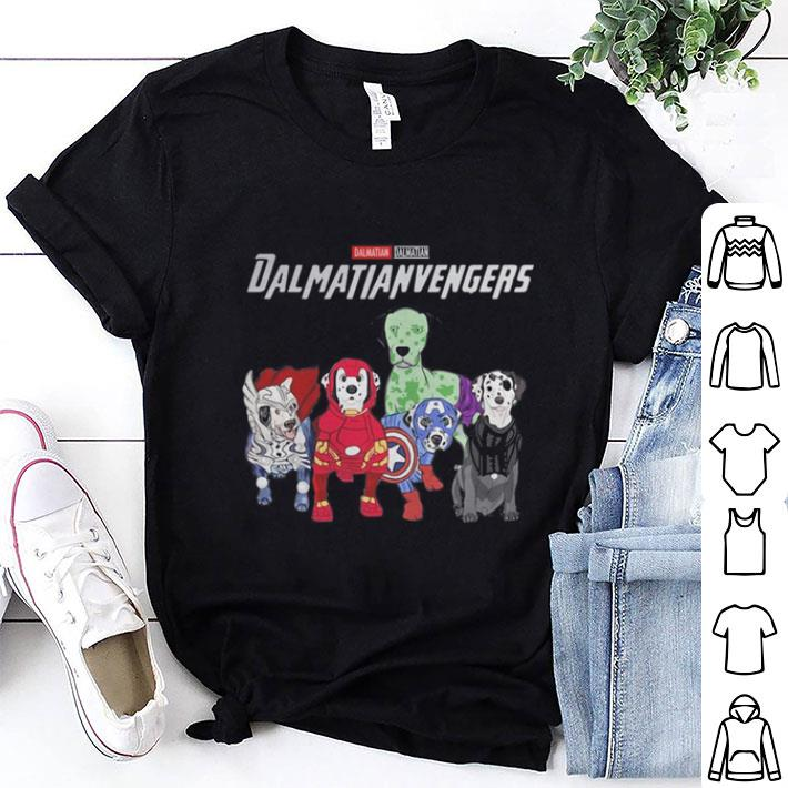 - Marvel Dalmatianvengers Avengers Endgame Dalmatian shirt