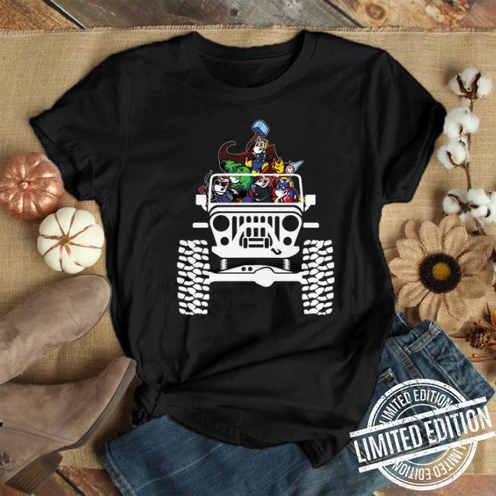 - Unicorns in the Jeep Avengers Endgame shirt
