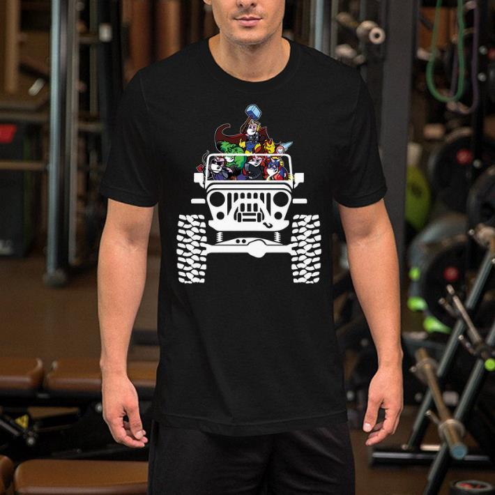 Unicorns in the Jeep Avengers Endgame shirt 2