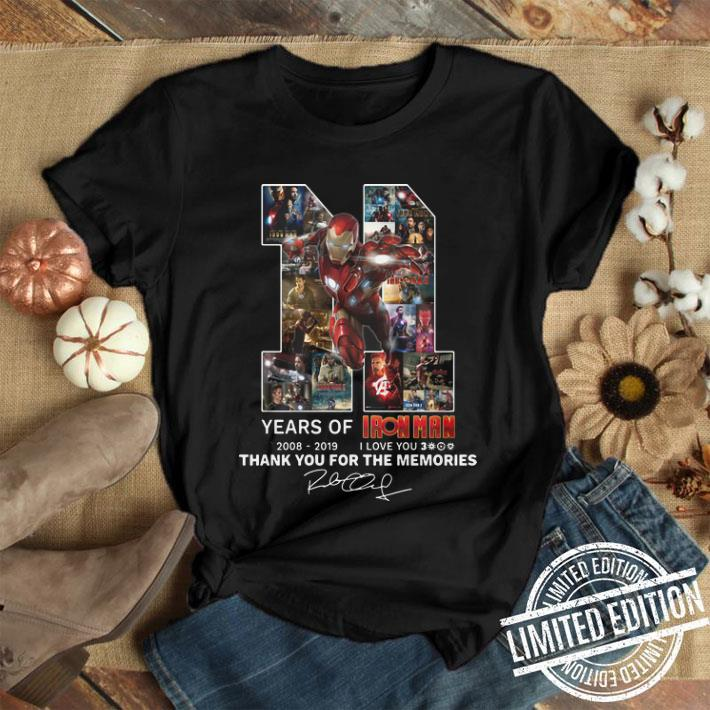 11 years of Iron Man i love you 3000 thank you for the memories shirt 1