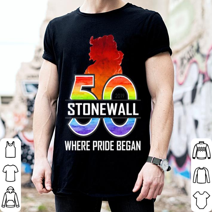 50 Stonewall where pride began shirt 2