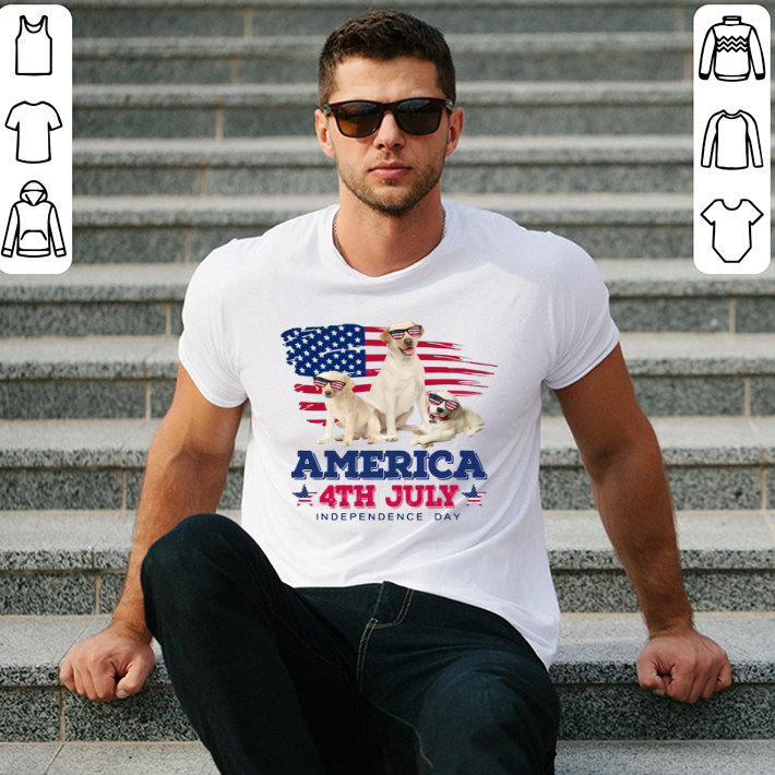 - Labrador Retriever America 4th July Independence Day shirt