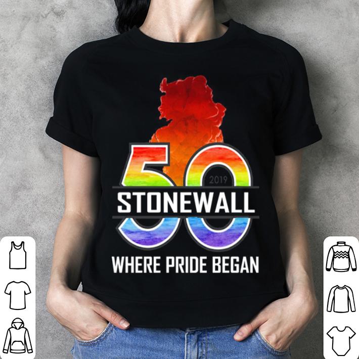 50 Stonewall where pride began shirt 3