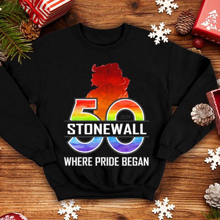 50 Stonewall where pride began shirt 4