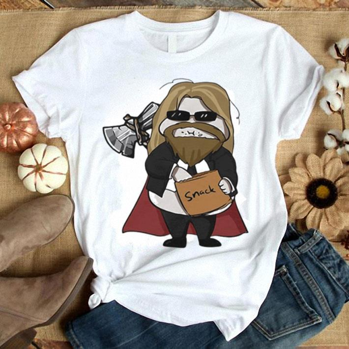 Avenger Endgame fat Thor eating snack shirt 1